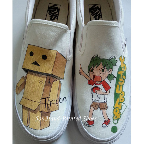 Custom Danbo from Yotsuba&! manga hand painted shoes