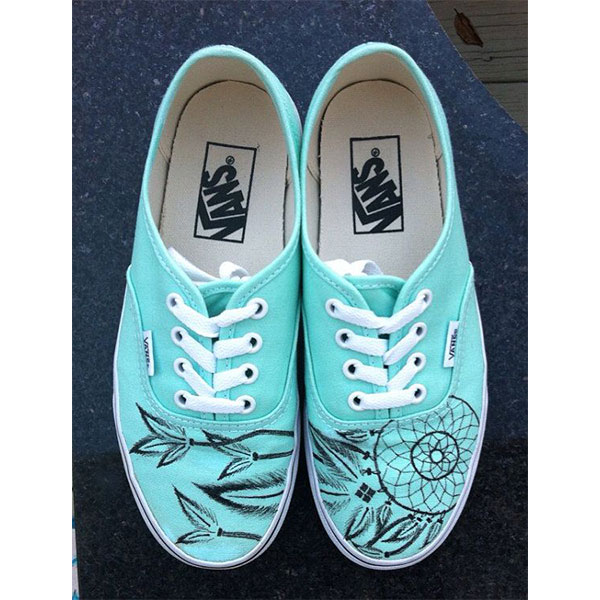 2015 Painted Shoes Dream Catcher Vans Waterproof Painted Shoes