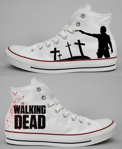 The Walking Dead High-top Painted Canvas Shoes-1