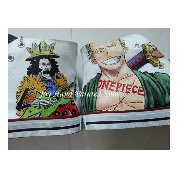 one piece anime shoes anime one piece hand painted canvas shoes-2