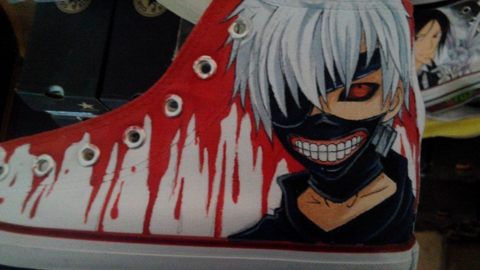 tokyo ghoul tokyo ghoul shoes painted anime tokyo ghoul anime sh-1