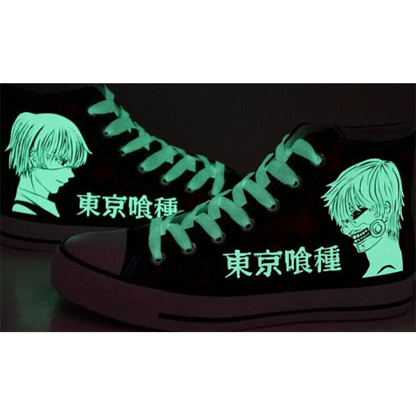 tokyo ghoul shoes tokyo ghoul anime Glow In The Dark painted sho-3