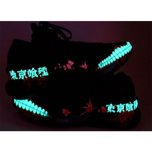tokyo ghoul shoes Glow In The Dark hand painted shoes anime mens-3