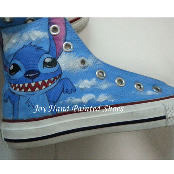 Stitch Anime Sneaker Lilo Stitch shoes Custom Hand Painted Shoes-2