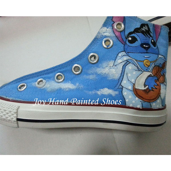 Stitch Anime Sneaker Lilo Stitch shoes Custom Hand Painted Shoes-3