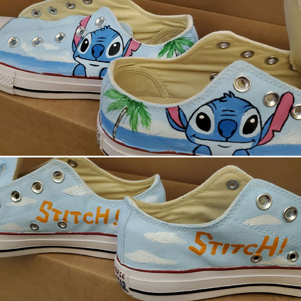 Stitch Anime Sneaker Lilo Stitch shoes Custom Hand Painted Shoes