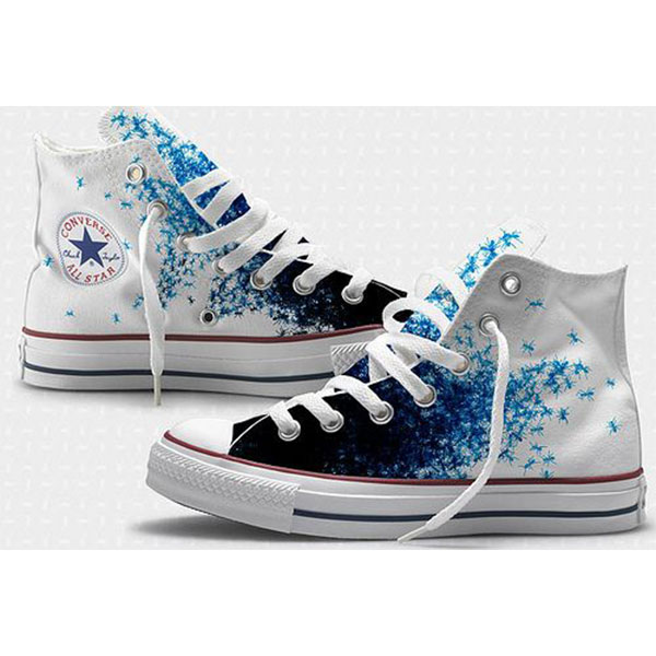 Custom Painted Shoes High-top Painted Canvas Shoes