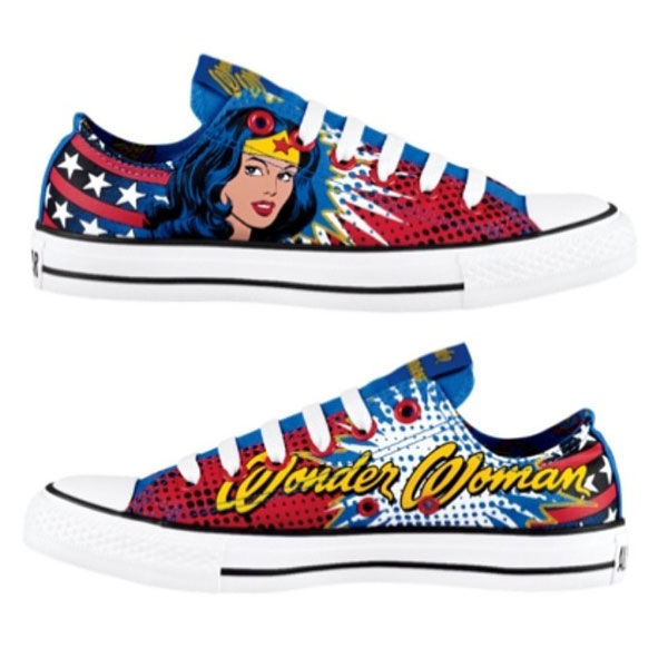 Comic Book-Inspired Fashion Painted Shoes