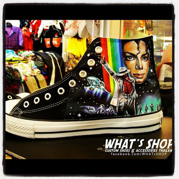 Mj on Shoes Michael Jackson Fans High-top Painted Canvas Shoes