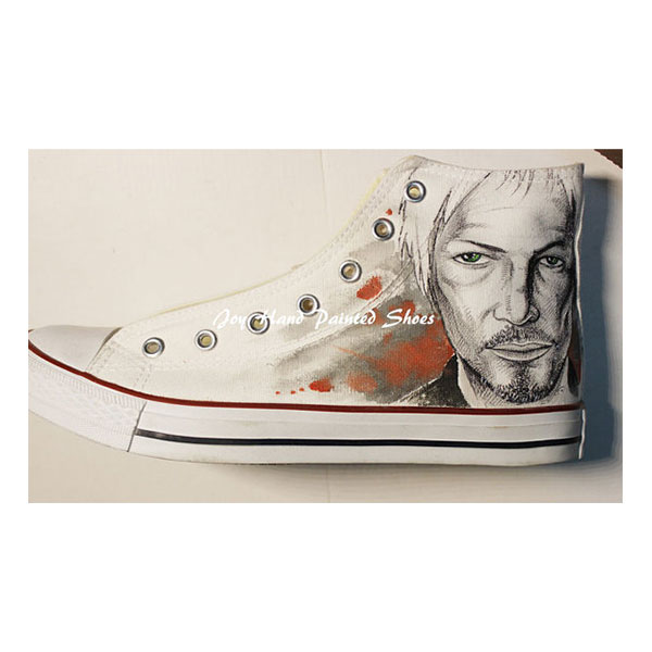 The Walking Dead Shoes Painted Custom Shoes Birthday Gifts Hand -2