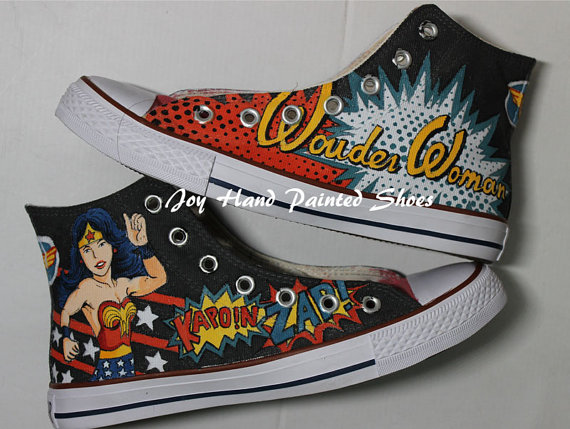 Wonder Woman Shoes Hand Painted Shoes Painted Custom Shoes Best -1