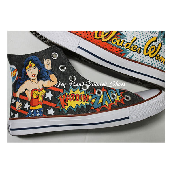 Wonder Woman Shoes Hand Painted Shoes Painted Custom Shoes Best -3