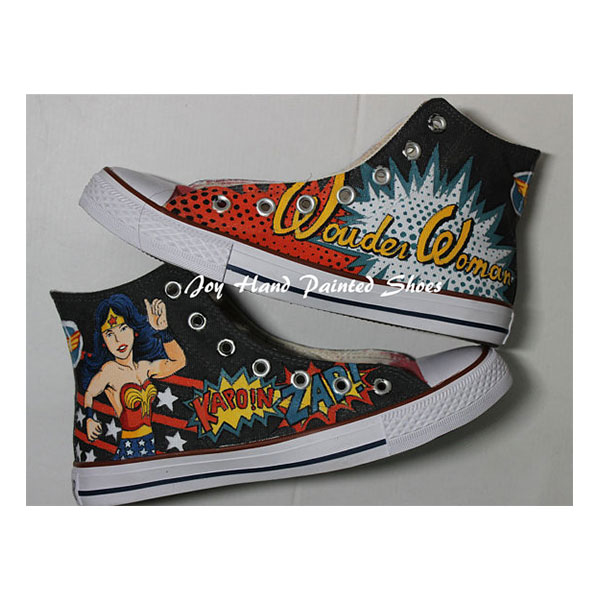 Wonder Woman Shoes Hand Painted Shoes Painted Custom Shoes Best