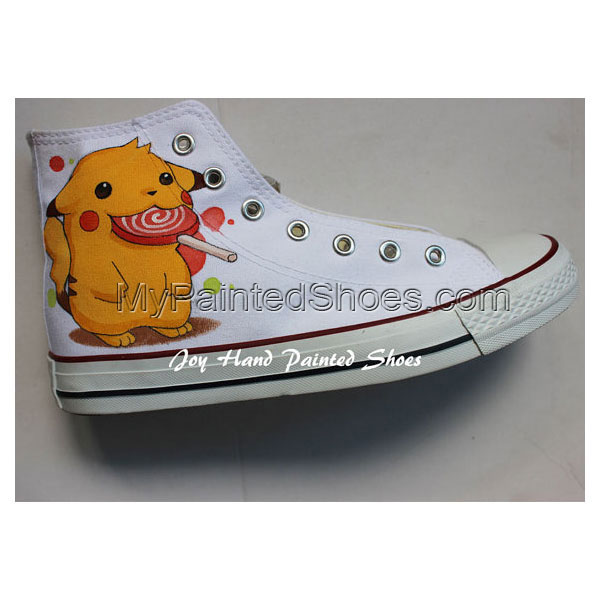 Pokemon Anime Hand Painted Shoes Pikachu Anime Hand Painted Snea-2