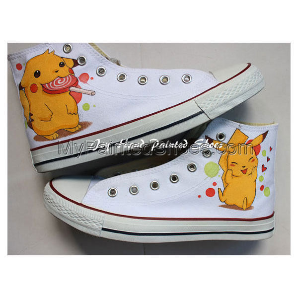 Pokemon Anime Hand Painted Shoes Pikachu Anime Hand Painted Snea
