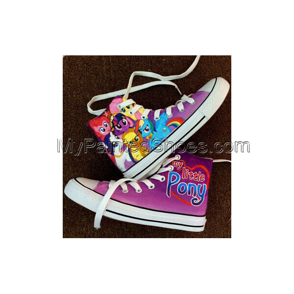 My Little Pony Painted Custom Purple Child Shoes Hand Painted Sh