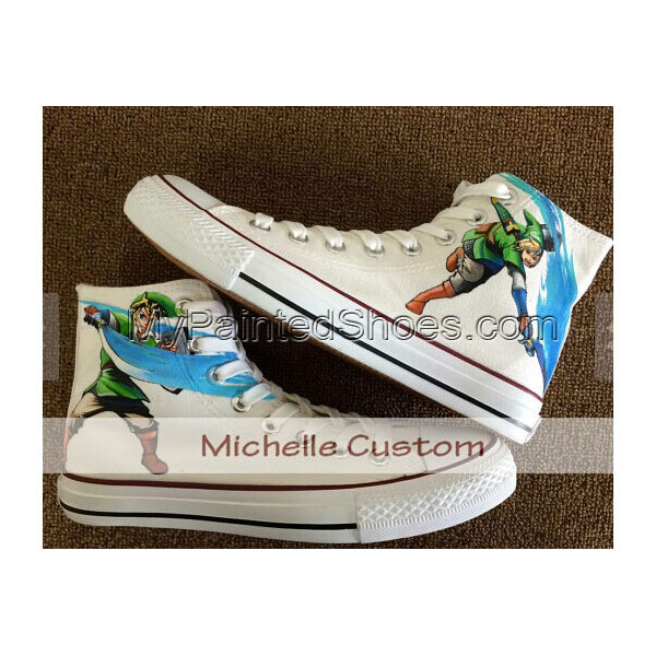 Custom Zelda Shoes Zelda Hand Painted Shoes Custom Canvas Shoes