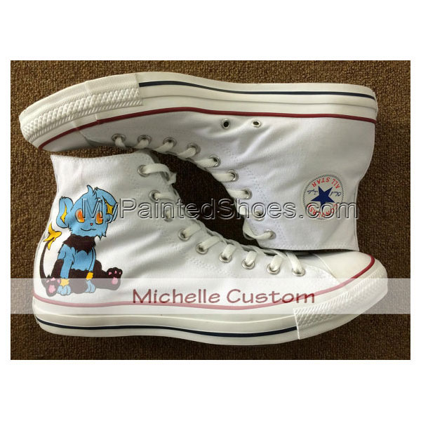 Design White Shoes Custom Art Hand Painted Shoes Cartoon Shoes C-2