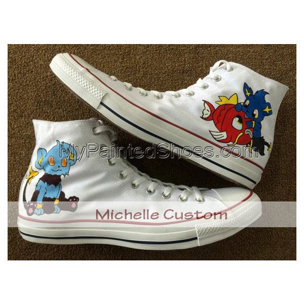 Design White Shoes Custom Art Hand Painted Shoes Cartoon Shoes C