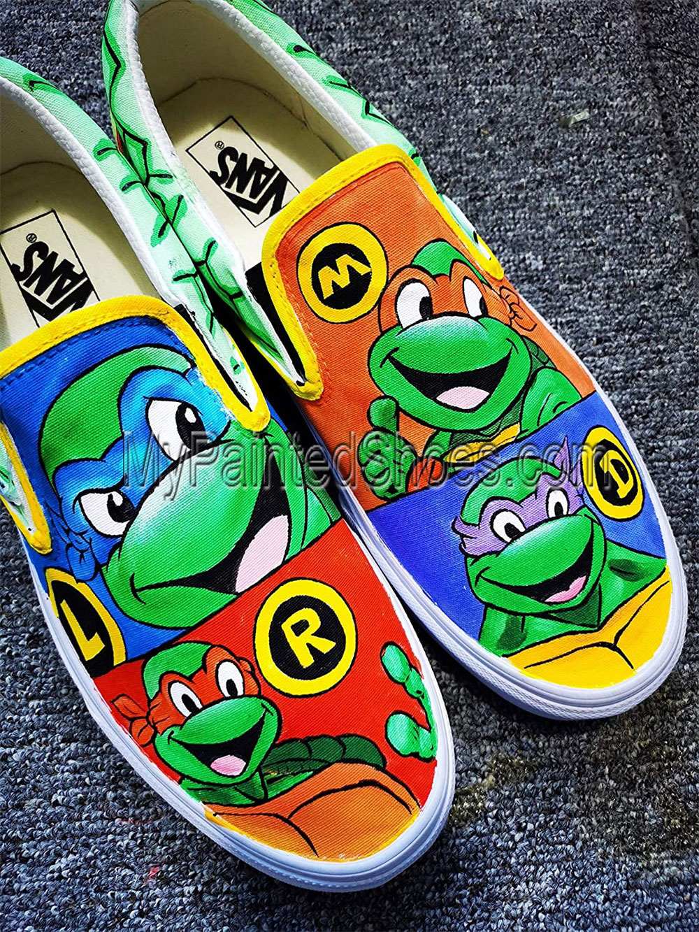 Ninja Turtles Vans Shoes Custom Hand Painted Shoes Custom Vans C-1