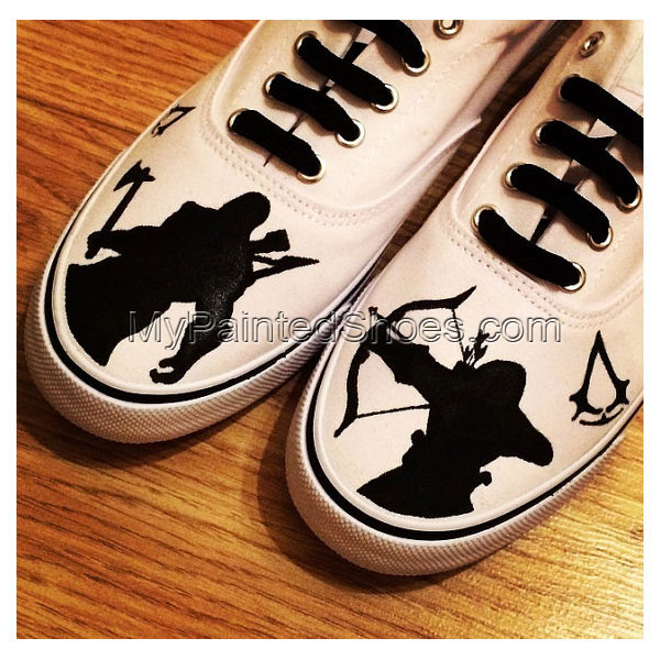 Assassins Creed Game Shoes Custom Shoes Painted Shoes Canvas Sho