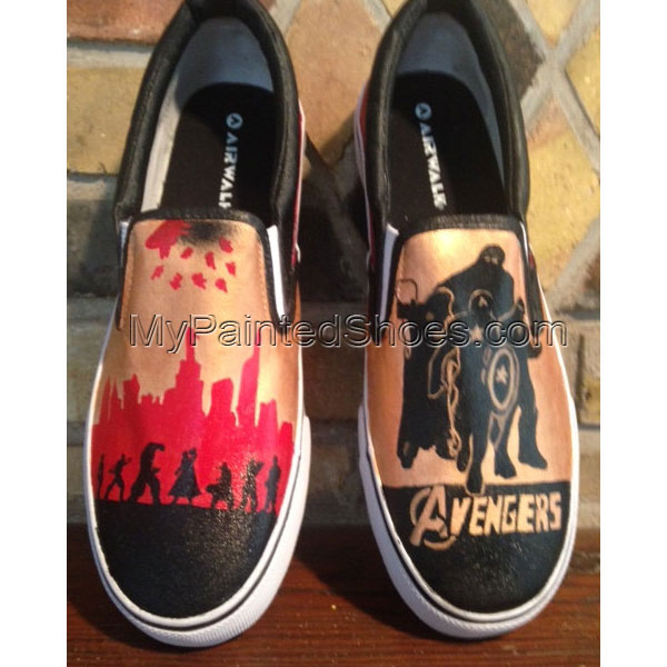 Avengers Custom Painted Shoes Canvas Shoes Birthday Gifts Christ