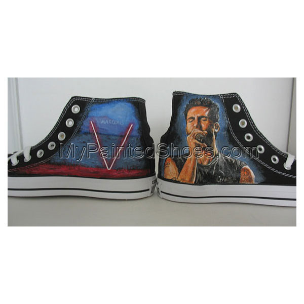 maroon 5 Adam Levine hand painted shoes Canvas Shoes Birthday Gi-2
