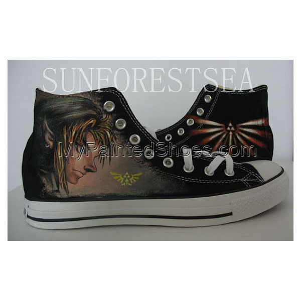 Zelda custom hand painted canvas shoes Canvas Shoes Birthday Gif