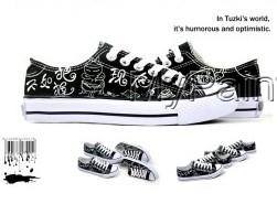 Custom white skeleton The Nightmare Before Christmas sneakers Ca