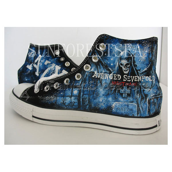 Avenged Sevenfold custom Canvas Shoes Birthday Gifts Christmas G