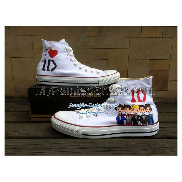 1D One Direction Hand Painted Shoes Custom Canvas Shoes Birthday-1
