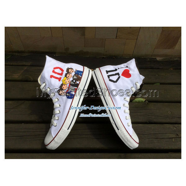 1D One Direction Hand Painted Shoes Custom Canvas Shoes Birthday-4