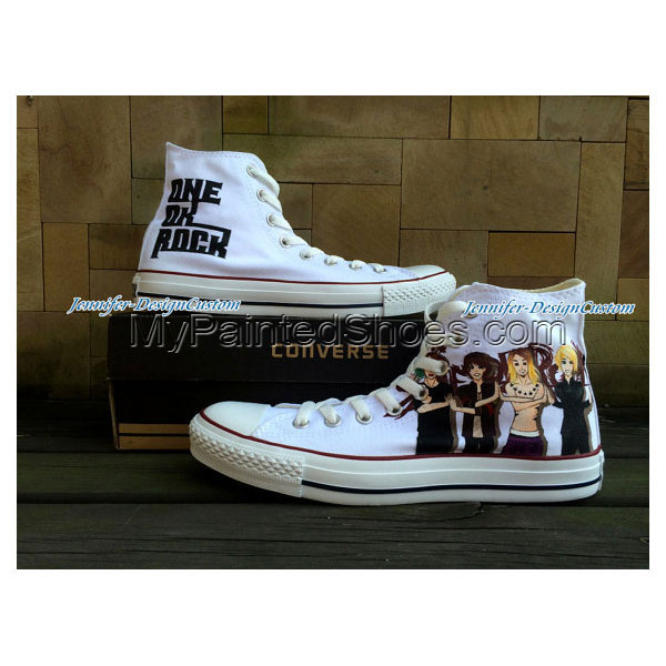 Unique Design Rock Hand Painted Shoes Custom Gifts Birthday Gift
