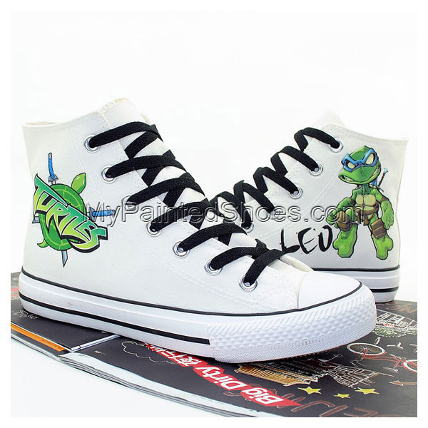 Ninja Turtles Hand Printed Shoes Cosplay Anime Shoes Canvas Shoe-1