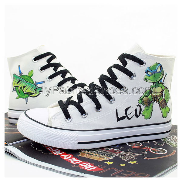 Ninja Turtles Hand Printed Shoes Cosplay Anime Shoes Canvas Shoe-2