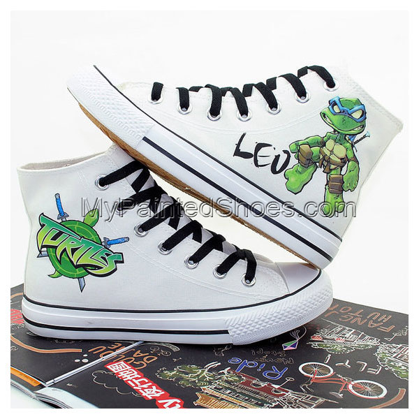 Ninja Turtles Hand Printed Shoes Cosplay Anime Shoes Canvas Shoe