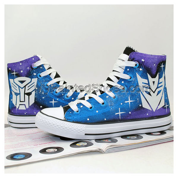 Transformers Autobot and Decepticon Luminous Logo Shoes Hand Pai-1