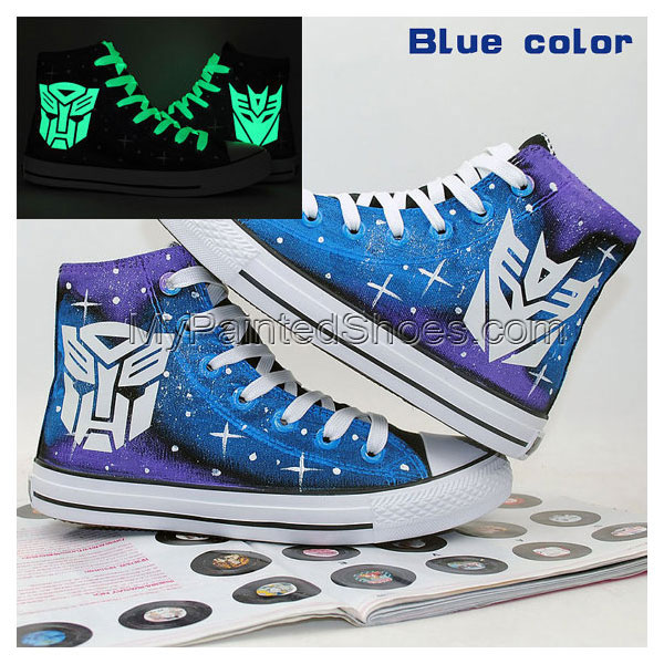 Transformers Autobot and Decepticon Luminous Logo Shoes Hand Pai