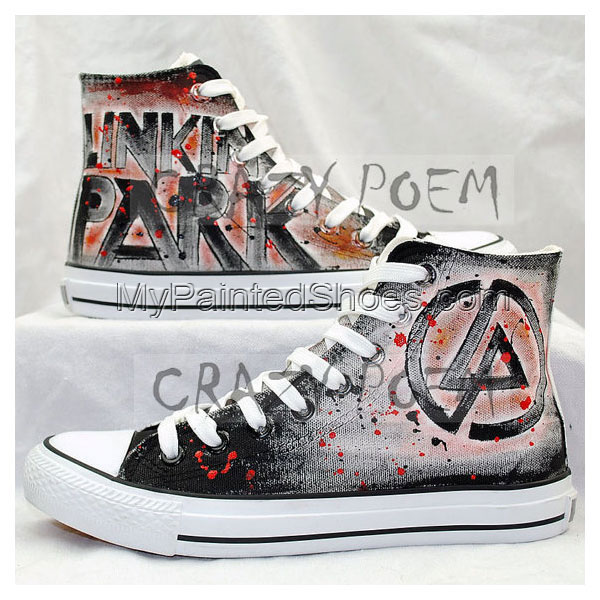 Linkin Park High Quality Hand Painted Shoes Best Presents for Me-1