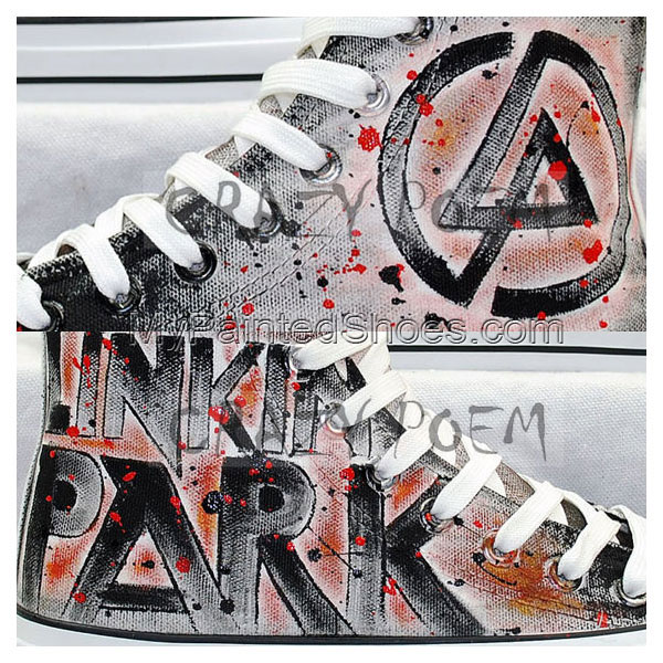 Linkin Park High Quality Hand Painted Shoes Best Presents for Me-2
