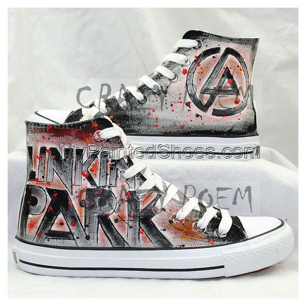Linkin Park High Quality Hand Painted Shoes Best Presents for Me
