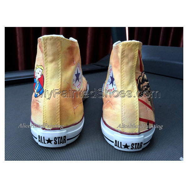 Unique Classical Anime Hand Painted Shoes Custom Shoes Custom Bi-2
