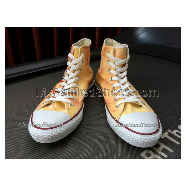 Unique Classical Anime Hand Painted Shoes Custom Shoes Custom Bi-3