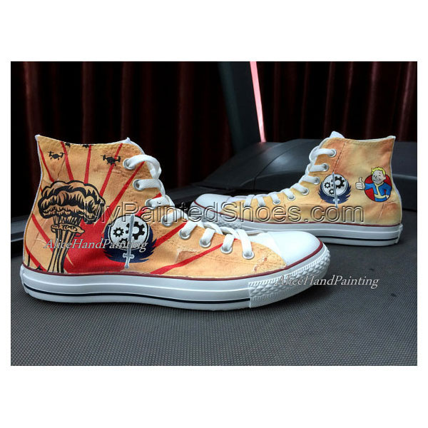Unique Classical Anime Hand Painted Shoes Custom Shoes Custom Bi