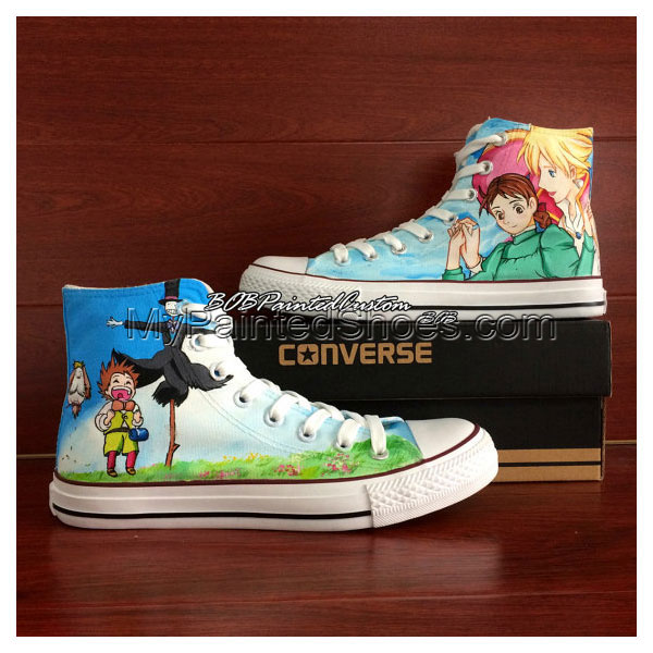 Customizable Moving Castle Anime Converse Shoes Unisex Hand Pain
