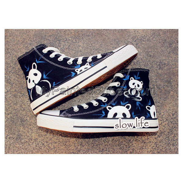 National treasure panda-painted shoes/Lovely panda shoes/canvas