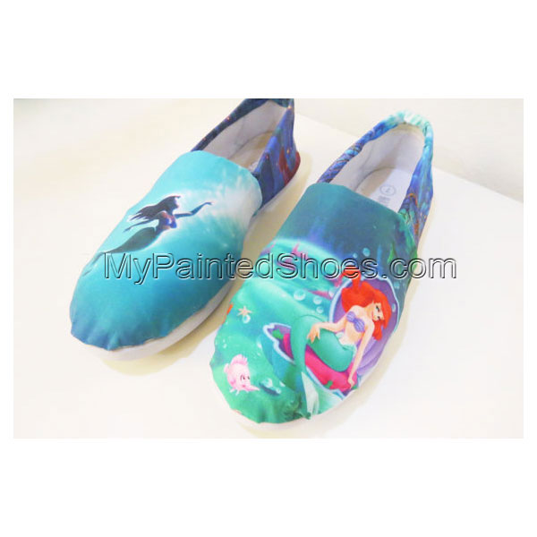 The Little Mermaid Shoes Toms Canvas Shoes Birthday Gifts Christ