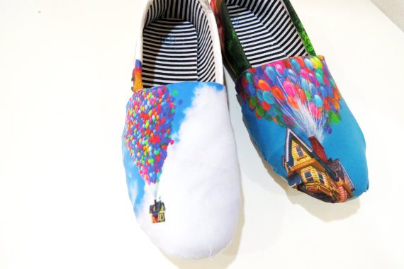 Disney Up Shoes Pixar Toms Canvas Shoes Birthday Gifts Christmas