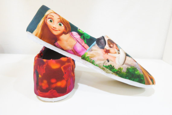 Disney Tangled Rapunzel Shoes Toms Canvas Shoes Birthday Gifts C-1