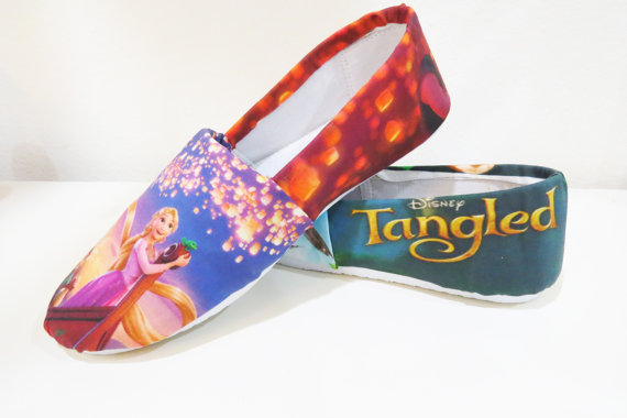Disney Tangled Rapunzel Shoes Toms Canvas Shoes Birthday Gifts C-2